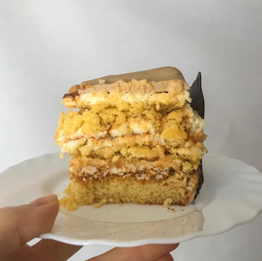 Случайно-неслучайный абрикосово-кокосовый торт