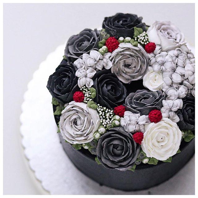 Цветы из крема в малазийской технике